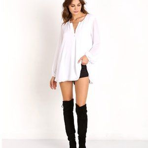 Show Me Your Mumu Jamie White Oversized Tunic Top